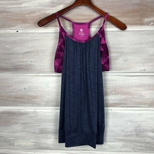 Old Navy Active Loose/Ample Blue Sports Bra Tank